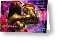 Equal Marriage Greeting Card by Carmen Waterman