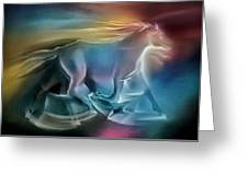 Equus Caballuscomp 1984 Greeting Card by Glenn Bautista