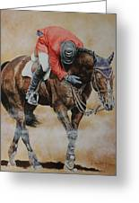 Eric Lamaze And Hickstead Greeting Card by David McEwen