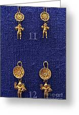 Erotes Earrings Greeting Card by Andonis Katanos