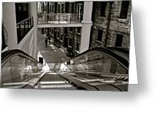 Escalator Going Down In Sydney Greeting Card by Kirsten Giving