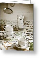 Espresso Cups Greeting Card by Joana Kruse