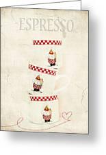 Espresso Greeting Card by Darren Fisher