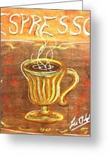 Espresso Greeting Card by Lee Halbrook
