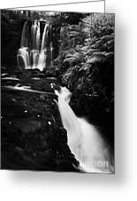 Ess-na-crub Waterfall On The Inver River In Glenariff Forest Park County Antrim Northern Ireland Greeting Card by Joe Fox
