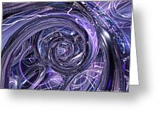 Eternal Depth Of Abstract Fx Greeting Card by G Adam Orosco