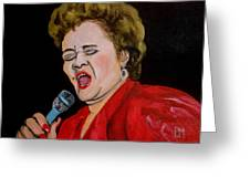Etta Greeting Card by Pete Maier