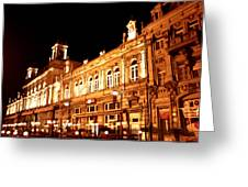 Europe At Night Greeting Card by Lucy D