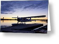 Evening Light On A Dehavilland Beaver Greeting Card by Tim Grams