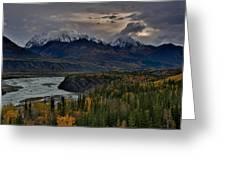 Evening Matanuska Valley  Greeting Card by Sam Amato