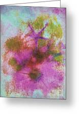 Evening Primrose Abstract Greeting Card by Judi Bagwell