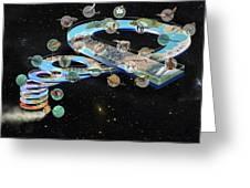 Evolution Of Life, Artwork Greeting Card by Jose Antonio PeÑas