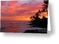 Ewa Beach Sunset Greeting Card by Clark Thompson