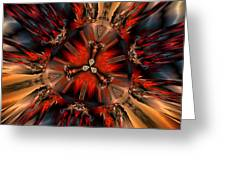 Excitement In Red Greeting Card by Claude McCoy