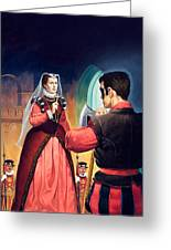 Execution Of Mary Queen Of Scots Greeting Card by English School