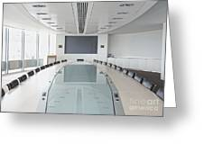 Executive Boardroom Greeting Card by Dave & Les Jacobs