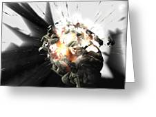 Exploding Brain Greeting Card by Christian Darkin