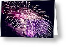 Exploding Stars Greeting Card by DigiArt Diaries by Vicky B Fuller