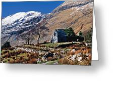 Exterior Of Rustic Home Greeting Card by Gareth McCormack
