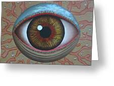 Eye Dew Greeting Card by Sharon Ebert