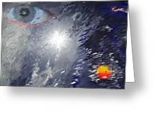 Eye In The Sky Greeting Card by Mark Stidham