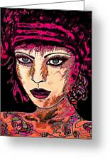 Face 13 Greeting Card by Natalie Holland