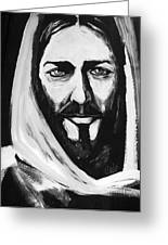 Face Of Christ Greeting Card by Larry Cole
