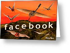 Facebook Rocks Greeting Card by Eric Kempson