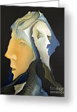 Facets Greeting Card by Joanna Pregon