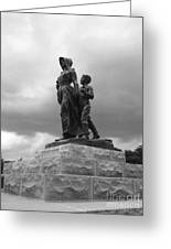 Facing The Storm Pioneer Woman Statue Oklahoma Icon   Greeting Card by Ann Powell
