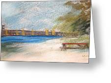 Fairport Harbor Pier Greeting Card by Lisa Urankar