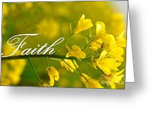 Faith Greeting Card by Lj Lambert