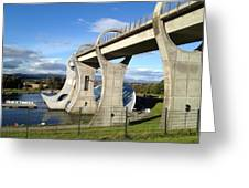 Falkirk Wheel Greeting Card by Michael McKenzie