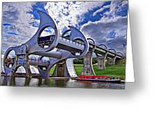 Falkirk Wheel Greeting Card by Wendy White