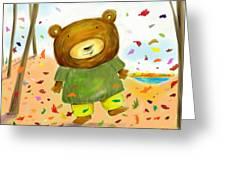 Fall Bear Greeting Card by Scott Nelson