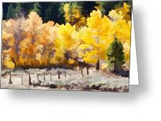 Fall In The Sierra Greeting Card by Carol Leigh