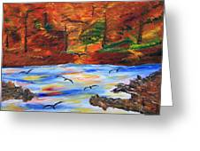 Fall On The Bow River Greeting Card by James Bryron Love