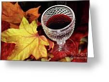 Fall Red Wine Greeting Card by Carlos Caetano