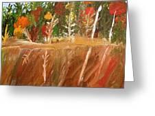 Fall Reflection On Lake Greeting Card by Paula Brown