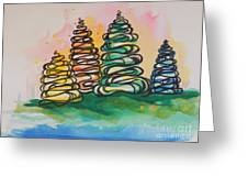 Fall Season ..swirling In... Greeting Card by Chrisann Ellis