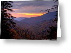 Fall Sunset Greeting Card by Charles Warren