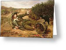 Fallen By The Wayside Greeting Card by Edgar Bundy