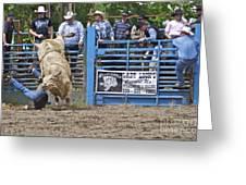 Fallen Cowboy Greeting Card by Sean Griffin