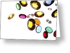 Falling Gems Greeting Card by Setsiri Silapasuwanchai