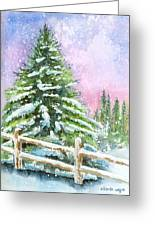 Falling Snowflakes Greeting Card by Arline Wagner