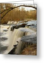 Falls At Old Stone Fort Greeting Card by Michael Flood