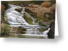 Falls Of Doodletown Creek Greeting Card by Glen Heberling