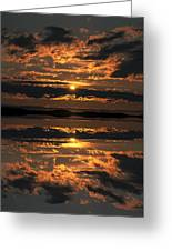 False Sunset Greeting Card by Andy Astbury