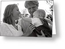 Family Portrait Greeting Card by Michelle Quance