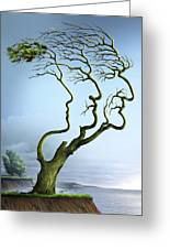 Family Tree, Conceptual Artwork Greeting Card by Smetek
